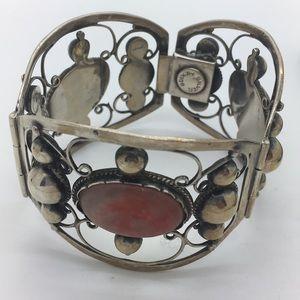 Jewelry - Vintage 925 Jasper Mexico Bracelet